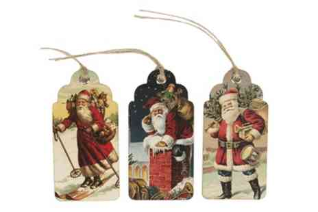 Groupon Goods Global GmbH - Pack of 30 Vintage Style Christmas Tags - Save 73%