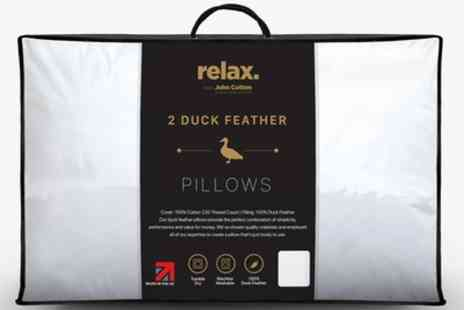 Groupon Goods Global GmbH - Two, Four or Six Relax Feather Pillows - Save 83%