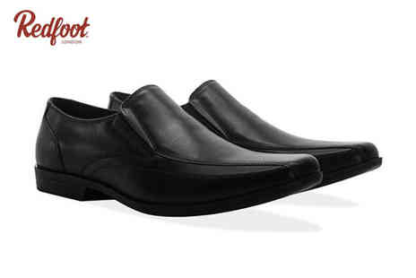 Redfoot Shoes - Pair of mens smart leather slip on Gusset shoes choose from two colours - Save 83%