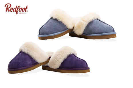 Redfoot - Pair of ladies sheepskin slippers - Save 75%
