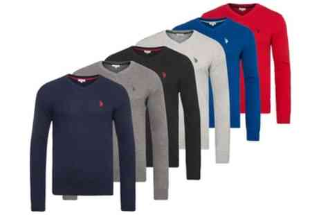 Groupon Goods Global GmbH - US Polo Assn V Neck Knit Pullover Polo Shirt - Save 0%