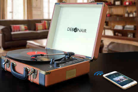 Some More - Debonair retro record player or Record player with Bluetooth and Usb port choose from various colour - Save 60%