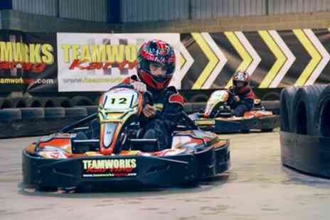 Teamworks Karting - 30 Minutes of Go Kart Racing for Two or Four - Save 58%