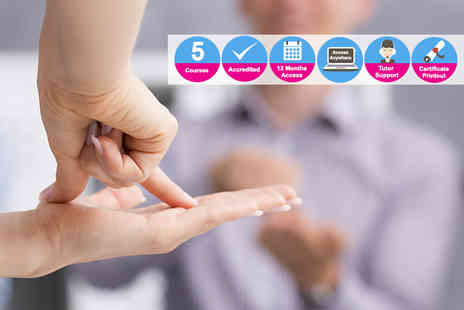 Oplex Careers - Accredited British Sign Language course bundle - Save 96%