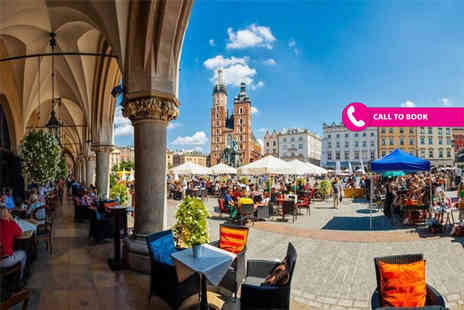 Book It Now Holidays - Two or three night Krakow city break with breakfast and return flights - Save 40%