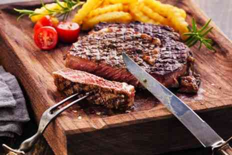 The Berliner - 8oz Rump Steak and Chips with Wine, Beer or Soft Drink for Two or Four - Save 47%