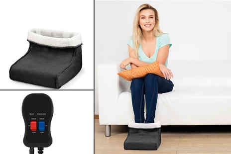 ViVo Technologies - Foot warmer and massager select your colour - Save 48%