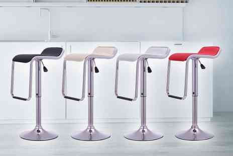 Bells Bay - Pair of Onyx II kitchen bar stools choose from four colours - Save 66%