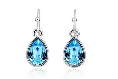 Evoked Design - Blue sapphire drop earrings choose from two colours - Save 90%