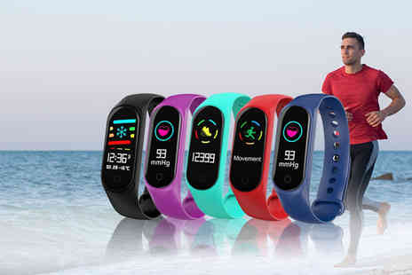 Wow What Who - M3S smart watch and fitness tracker choose from five colours - Save 73%
