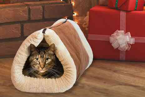 Vivo Mounts - Self heating 2 in 1 cat cave bed and mat - Save 68%