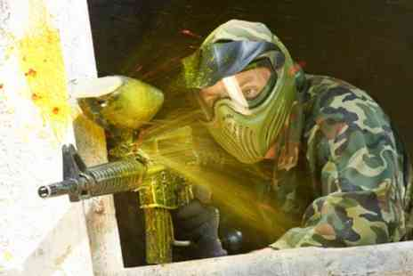 Paintball Park - Paintball Day with Smoke Grenades and Lunch for Up to 20 - Save 84%