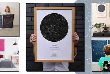 Star Name Registry - Personalised Night Sky Poster, A Totally Unique Gift Idea, plus Free Delivery - Save 43%