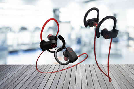 Wow What Who - Pair of Bluetooth waterproof sports IPX7 earphones - Save 84%