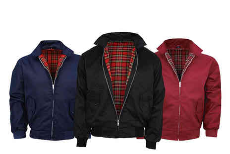 Morag online - Tartan lined Harrington jacket choose from three colours - Save 65%