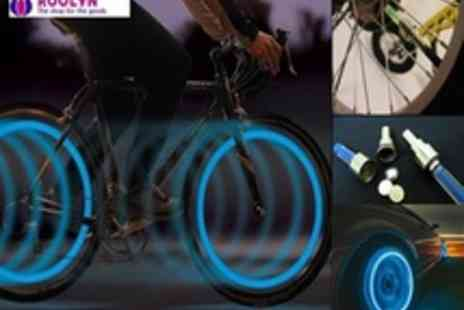 Roolyn.com - Pair of Flashing Led Tire Lights for Bikes, Cars, Motorcycles With a Huge - Save 85%