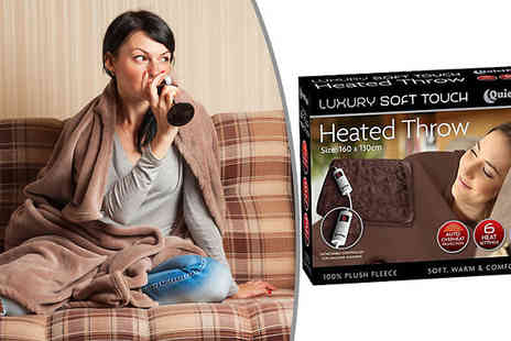 Home Season - Electric Plush Heated Blanket With Controller - Save 36%