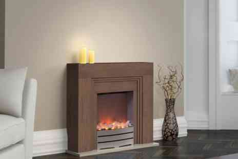 Groupon Goods Global GmbH - Warmlite WL45011 York Fireplace Suite with Realistic Led Flame Effect - Save 0%