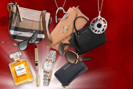 Brand Logic - Luxury mystery gift Burberry handbag, Michael Kors purse, Chanel perfume, Chopard sunglasses, an Armani watch and more - Save 0%