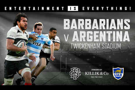 International Sports Investments - Ticket to see the Barbarians vs Argentina rugby match for the Killik Cup on Saturday 1st December - Save 50%