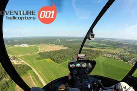 Adventure 001 - London Skyline Helicopter Tour with Lunch or Bubbly for One or Two - Save 0%