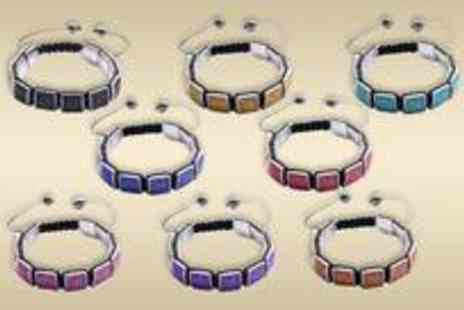 Clearly Contemporary - Square Crystal Bracelet choose from eight fab colours - Save 77%