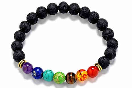 Shop Story - One, Two Or Foour Lava Stones Chakra Bracelets Choose Seven Styles - Save 84%