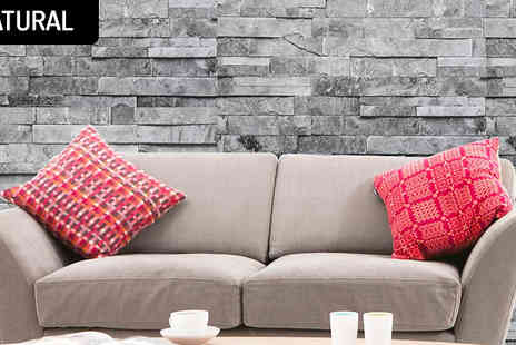 Megastore 247 - Modern Grey Brick Effect Wallpaper in 2 options - Save 47%