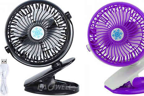 HXT Goods - Rechargeable Portable Mini Fan in 5 Colours - Save 78%
