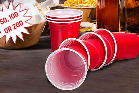 Home Season - Red American Style Party Cups in 50, 100, 200 - Save 75%