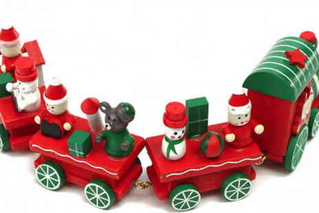 Snap One Up - Wooden Christmas Train Decoration - Save 73%