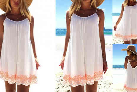 Snap One Up - V Back Summer Beach Dress Available in 4 Sizes - Save 73%