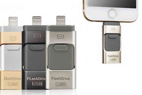 HXT Goods - 16, 32 or 64GB iFlash Drive for iPhone and iPad Choose from 3 Colours - Save 86%