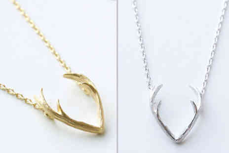 Elle and Be - Reindeer Antler Necklace in 2 Colours - Save 72%