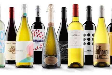 Virgin Wines Online - 10 bottles of wine red, white or mixed case, excluding P&P - Save 59%