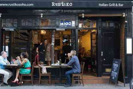Rustiko - Two or Three Course Italian Meal for Two - Save 50%