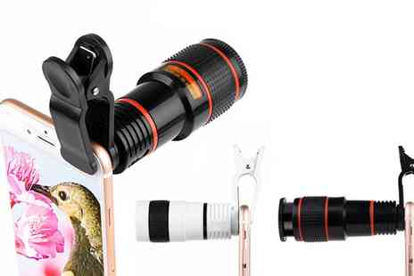 Groupon Goods Global GmbH - One or Two Clip On Smartphone Telescope Zoom Camera Lenses - Save 77%