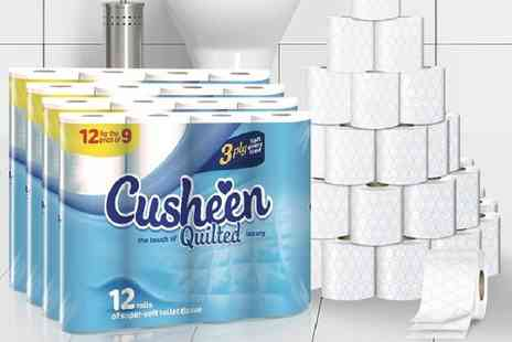 Ckent - 60 or 120 cusheen white quilts toilet rolls - Save 53%