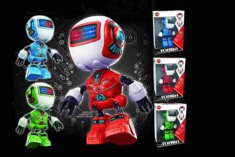 Hirix International - Flashing electric robot toy choose from three colours - Save 74%