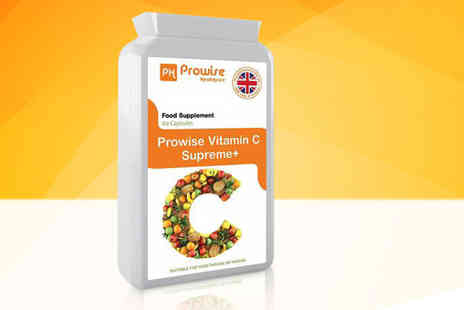 Prowise - Two month supply of vitamin C Supreme Plus capsules - Save 75%