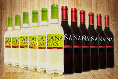 Q Regalo - 12 bottle selection of Cañadas wine choose a red, white or mixed selection - Save 66%