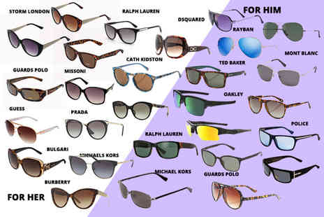Brand Logic - Mystery sunglasses deal for him or her Oakley, Ray Ban, MK, Prada, Burberry, Ted Baker and more - Save 0%