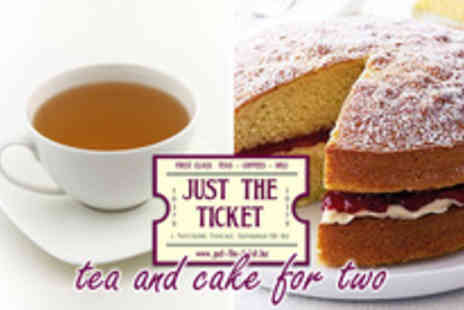 Just The Ticket Cafe - Tea for two�, treat a friend to a cuppa and a cake - Save 59%