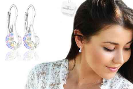 Groupon Goods Global GmbH - One, Two or Three Pairs of Briolette Earrings with Crystals from Swarovski - Save 89%