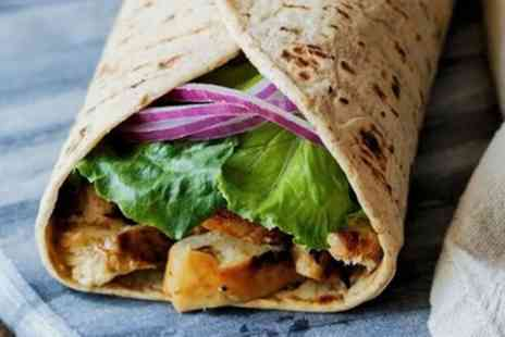 Soul Shack - Jerk Chicken Wrap with Fries and Carton of Tropical Juice for One, Two or Four - Save 55%