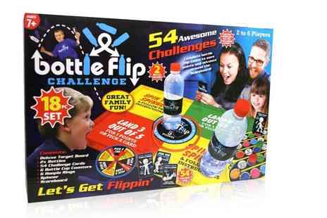 Direct 2 public - 18 piece bottle flip challenge set - Save 70%