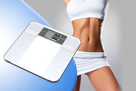 Direct 2 public - Six in One digital body fat monitoring and weighing scales - Save 60%