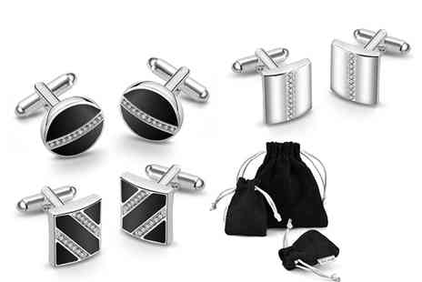 Philip Jones - Pair of silver plated cufflinks - Save 76%
