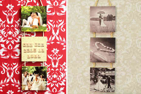 Your Perfect Canvas - A three piece hanging wooden panel photo canvas - Save 80%