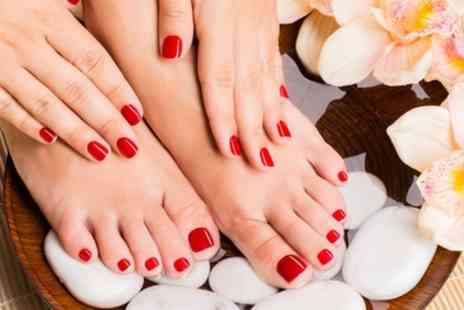USA Star Nails - Shellac Gel Polish Application on Hands, Feet or Both - Save 40%